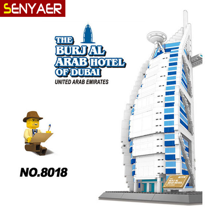 WanGe 8018 Dubai Sailing Hotel 1307Pcs Large model Building Block Educational Jigsaw DIY Brick Toys For Children Gift hot sale 1000g dynamic amazing diy educational toys no mess indoor magic play sand children toys mars space sand