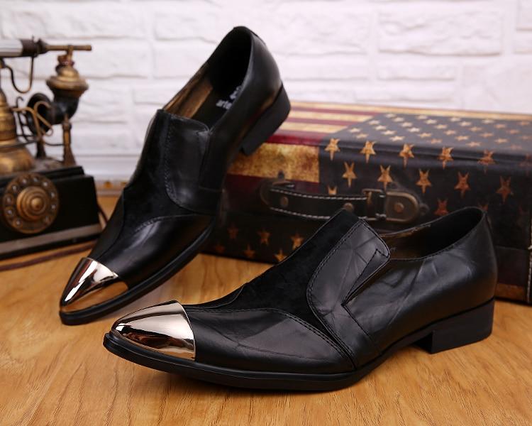 9dcd4a14 En Hombres Metal Suave Vestido Cuero Oxford De Caliente Barato Casual Los  Toe Negro Moda Para Hombre Venta La Zapatos Deslizamiento vwSdqv