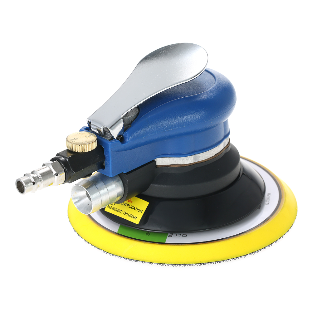 6 10000RPM Pneumatic Palm Random Orbital Sander Polisher Air Powered Orbit Polisher Dual Action Polishing Grinding Sanding