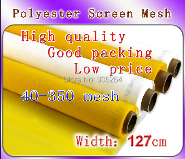 White Color 1 Yard Silk Screen Printing Mesh 120 Mesh 48T Count 100% Polyester discount with gift 4 1 color silk screen printing machine tshirt printer press equipment carousel 48t mesh fast free shipping