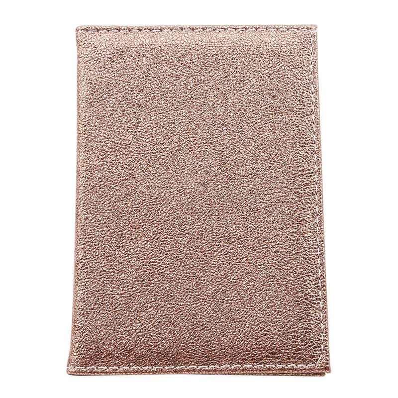 Роскошная однотонная Обложка для паспорта для женщин, чехол для паспорта, кожаный милый кошелек для паспорта, держатель для паспорта - Цвет: Gold