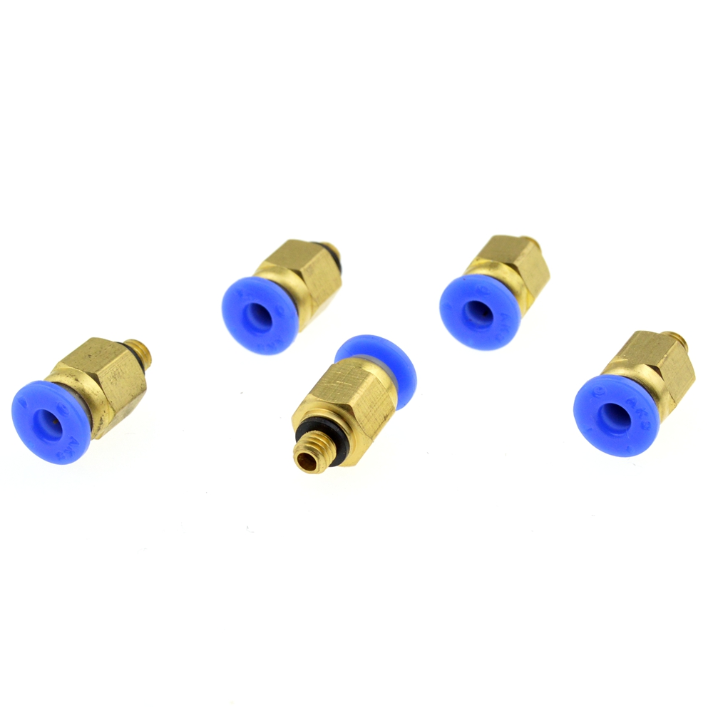 4mm OD Pipe Tube to M5 / 5mm Thread Straight Pneumatic Tubing Push in Brass Connector Air Quick Coupler Fittings 8mm tube to 8mm tube plastic pipe coupler straight push in connector fittings quick fitting page 3