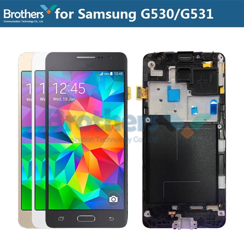 Para Samsung Galaxy Grande Prime G531 G531F SM-G531F G531H G531 G530 Display LCD Com Frame Touch Screen Digitador Assembléia LCD