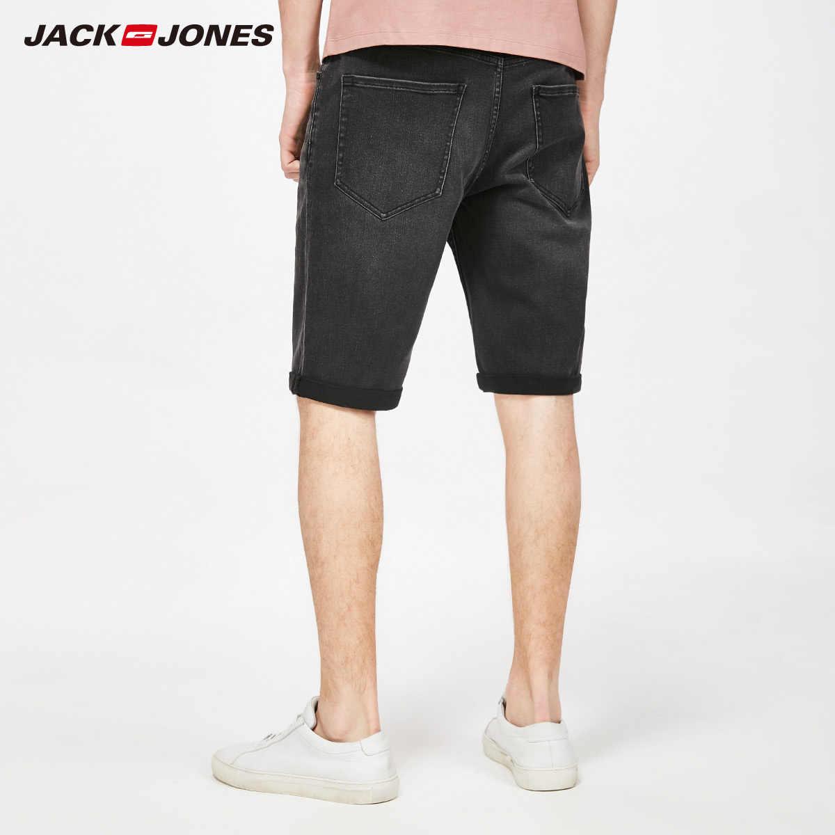 JackJones wiosna lato nowy męski regularny krój Stretch spodenki jeansowe do kolan   2181S3507