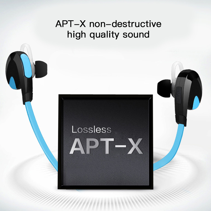 Good Sound Quality APT-X Bluetooth 4.1 Earphone Sweat Proof Headset Sport Stereo Wireless Headphones For iPhone Android 6