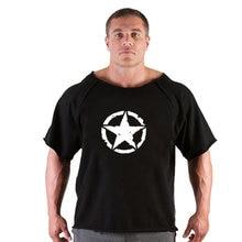 fitness men T-shirt 2019 Summer fitness men Print bodybuilding wear shirt Brand vest Plus Size Rag tops T-shirt