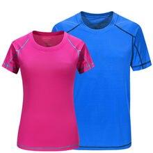 Verano rápido seco compresión de manga corta Camisetas Running Fitness  tenis fútbol gimnasio hombres mujeres ropa deportiva 2042673cc92f6