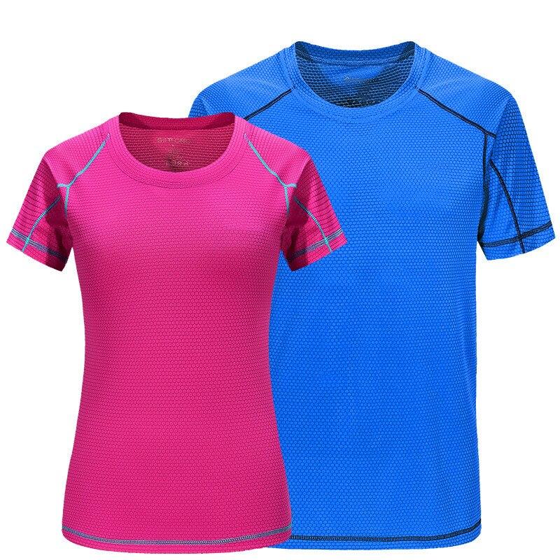 Summer Quick Dry Compression Short Sleeve T-Shirts Running Shirt Fitness Tight Tennis Soccer Jersey Gym Men Women Sportswear