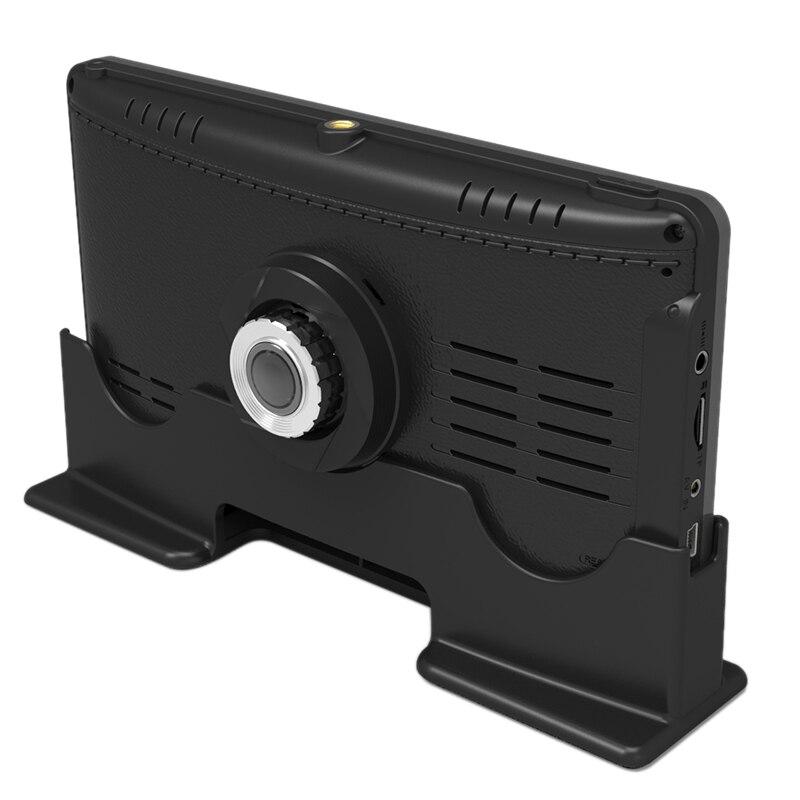 7 pouces 1296P camion Dvr Fhd 1296P double lentille Dash Cam caméra Auto registrateur avec caméra arrière Version nocturne large plage dynamique