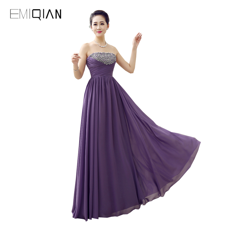 Original Design Gorgeous A Line Purple Chiffon Beaded   Prom     Dresses