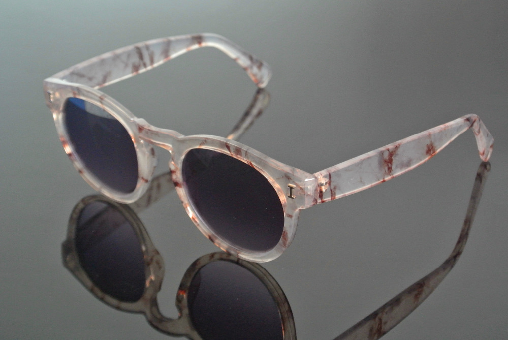 Polarized Retro Sunglasses Full Rim Transparent Fashion Gray Glasses Man Women Eyewear