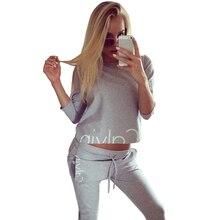 Sportsuit уличная bts прибытия шт долго серый рукава топ дамы длинные