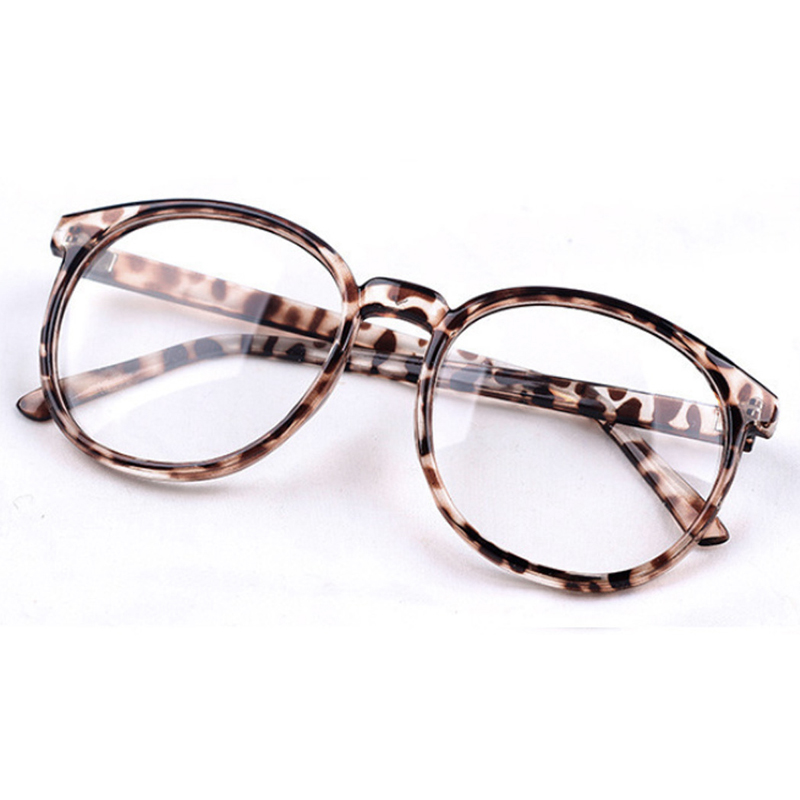 OUTEYE Round Plain mirror Frame Vintage Men Women Glasses Computer ...