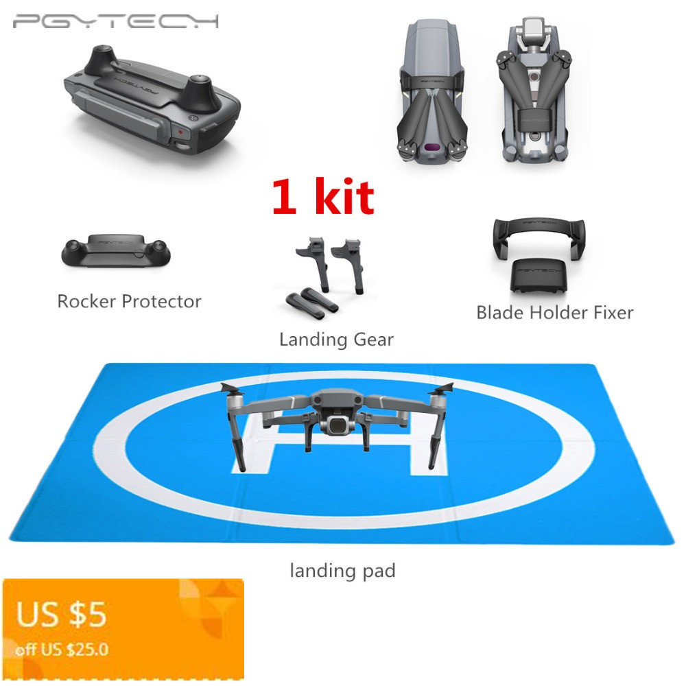 PGYTECH 50CM Landing Pad + Increased Landing Gear +Controller Rocker Protector +Blade Holder Fixer for DJI Mavic 2 Pro /2 Zoom