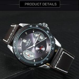 Image 4 - WINNER Reloj Automático oficial para hombre, correa de cuero, deportivo, de pulsera, mecánico, de negocios, informal