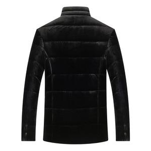Image 2 - سترة جديدة للرجال من ريش البط معطف مخملي غير رسمي رشيق جدًا ملابس للرجال 8691