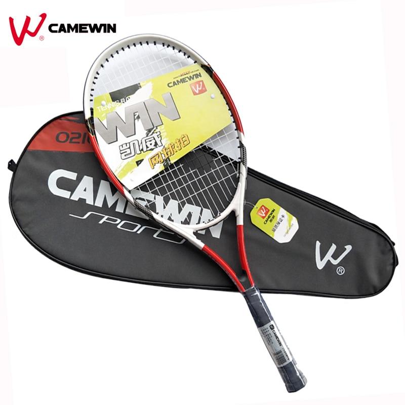 1 Pièce En Aluminium Tennis De Raquette Alliage CAMEWIN Marque Haute Qualité Raquette De Tennis avec Sac Pour Hommes et Femmes (couleur: noir Rouge)