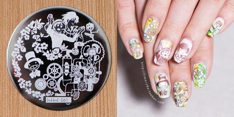 Diy Nagel, Platten Junge Muster Nail Art Stempel Bild Schablone Maniküre Schablonen Nagel Dekoration Placas Stanzen Nägel 1 Pcs