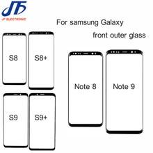10 adet not 8 9 10 için ön dış ekran cam Lens değiştirme Samsung Galaxy S9 S8 S10 s10E artı s8 ön ekran cam Lens