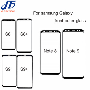 Image 1 - 10pcs Note 8 9 10 Front Outer Screen Glass Lens Replacement For Samsung Galaxy S9 S8 S10 s10E Plus s8 Front Screen Glass Lens