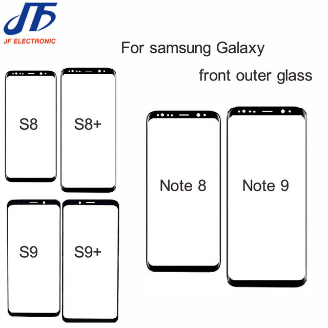 10pcs Note 8 9 10 Front Outer Screen Glass Lens Replacement For Samsung Galaxy S9 S8 S10 s10E Plus s8 Front Screen Glass Lens