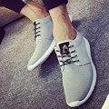 2016 Новый Весной и Летом мужская Повседневная Обувь на Плоской Подошве Корейский Дышащей Сетки Воздуха Мужская Обувь Zapatos chaussure homme Hombre