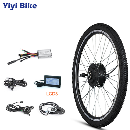 Mileage And Gear Position Xinwoer 700C KT-LCD5 Display Instrument Wheel Ebike Conversion Kit 48V 500W with LCD Instrument,Can Record The Data Of Speed