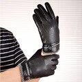 New Men's Fashion Warm Winter Fashion Gloves Cashmere Suede Leather Gloves Accessories