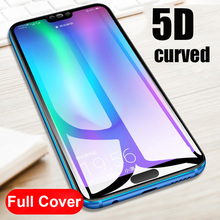 5D Curved Full Cover Screen Protector Honor 10 9 Lite Tempered Protective Glass Huawei Y9 2018 P Smart
