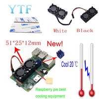 Raspberry pi 4B 3 B + Double ventilateur refroidisseur de radiateur ultime avec Double ventilateurs de refroidissement pour Raspberry Pi 3/2 modèle B + NESPi Retroflag
