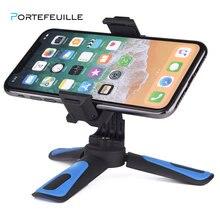 Mini Stativ Für Kamera Smartphone Halter Für iPhone Xiaomi Huawei Telefon Stehen Montieren Tragbare pied appareil foto Kompakte Stativ