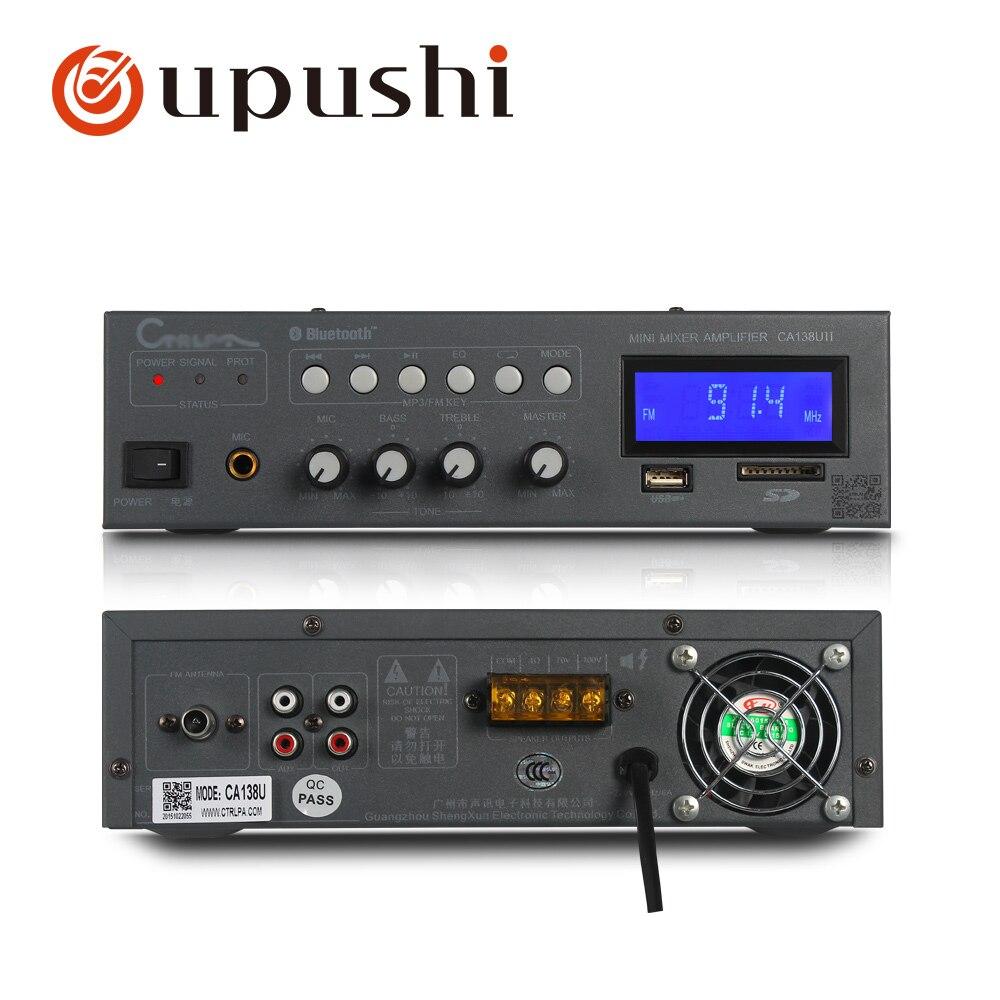 Bluetooth mini amplifier 30w 60w professional home power amplifier usb amp with FM SD card FM
