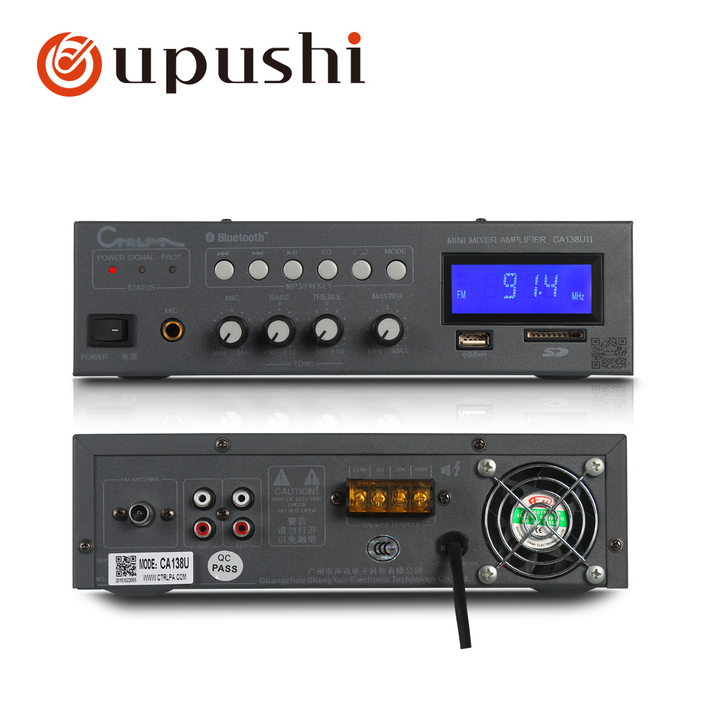 Energisch Bluetooth Mini Verstärker 30 W, 60 W Professional Home Power Verstärker Usb Amp Mit Fm, Sd Karte, Fm Für Hintergrund Sound System