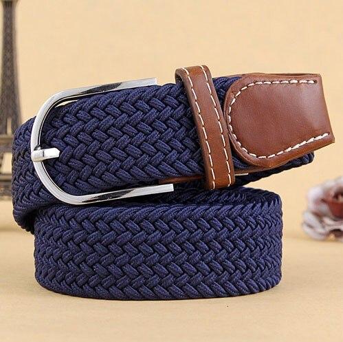 Hot Men's Casual Belts Elastic Luxury Belt Gentleman Mens Canvas Belt Jeans Designer Shirts Pop Belts For Men Black Blue