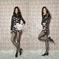 1 pair HOT Women Ladies Black Sexy Fishnet Mesh Pattern Jacquard Stockings Pantyhose Tight Medias clothing accessories