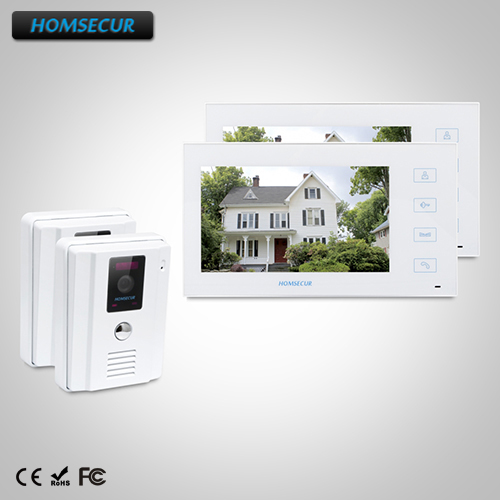 HOMSECUR 7 Wired Video Door Entry Security Intercom with White Monitor : TC011-W (White)+TM704-W Monitor(White)HOMSECUR 7 Wired Video Door Entry Security Intercom with White Monitor : TC011-W (White)+TM704-W Monitor(White)