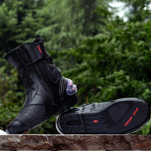 Image 2 - Riding Tribe Microfiber leather Motorcycle Boots Pro biker Speed Bikers Moto Racing Motocross Shoes