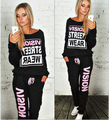 BKLD Womens Two Piece Pants Sets 2016 New Fashion Fall Long Sleeve O Neck Sweatshirt +Slim Long Pants Pockets Causal Tracksuits