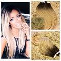 Balayage Ombre Color 2 Decoloración de Color 60 Cinta en Extensiones de cabello Humano Real Del Pelo Trama de La Piel Remy Extensión Del Pelo BY228