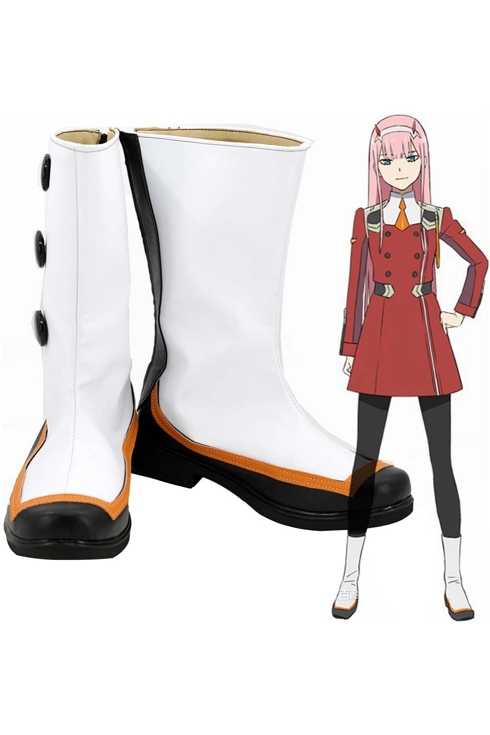 DARLING in the FRANXX Zero Two Boots Shoes Code: 002 Cosplay Boots Shoes Zero Two 02 Cosplay Accessories