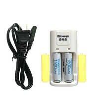 Super 2 pièces Etinesan 3.2 v 1500 mAh 14500 AA LiFePo4 batterie rechargeable au lithium avec fausse batterie factice + chargeur 14500 AA/AAA