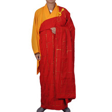 824333fe825 Unisexe bouddhiste moine Robe Zen méditation Robes Shaolin Temple vêtements  Kung Fu uniforme bouddhiste abbé soutane Costume
