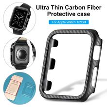 For Iwatch 1 2 3 4 Protect Cover Ultra Thin Carbon Fiber Hard PC Edge Shock-Proof Full Body Protective IWatch