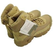Botas Tácticas Desierto Botas de Combate de Las Fuerzas Especiales de los hombres Botas de Invierno Zapatos de Senderismo de Alta Zapatos Resistentes al Desgaste