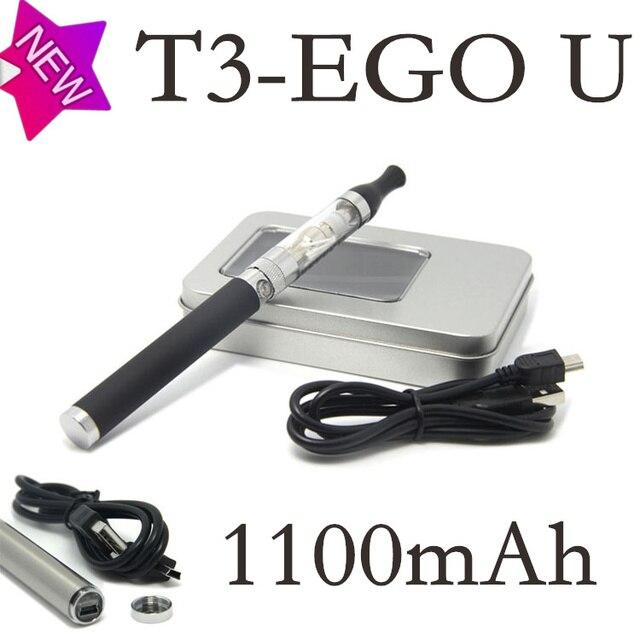 Новый T3 эго ut сигарета стартовые комплекты с эго розовый-u электронная сигарета аккумулятор T3 2.4 мл атомайзер зарядное устройство USB испаритель