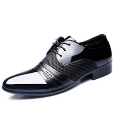 Hot!Luxury Brand Men Shoes Mens Flats Patent Leather Classic Oxford For New Fashion Plus size 38-48