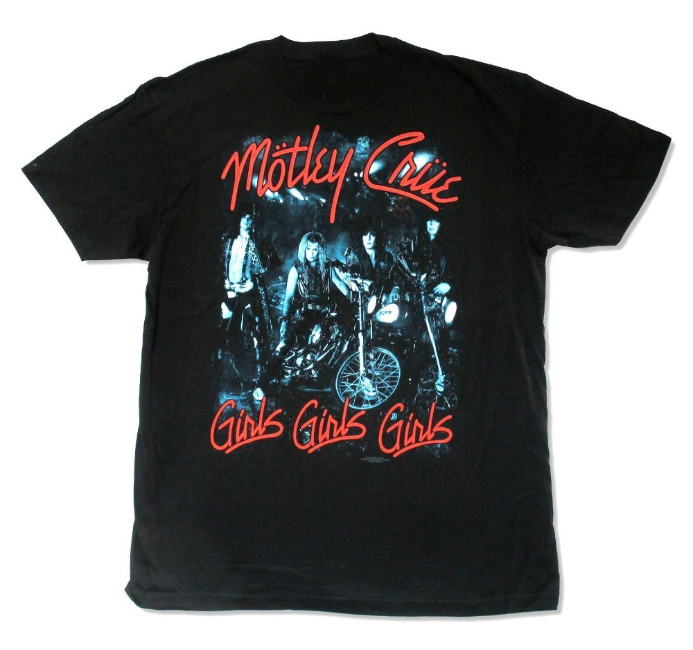 Online T Shirts Store MenS Motley Crue Girls Band Pic Mens Crew Neck Funny Short Sleeve T Shirt