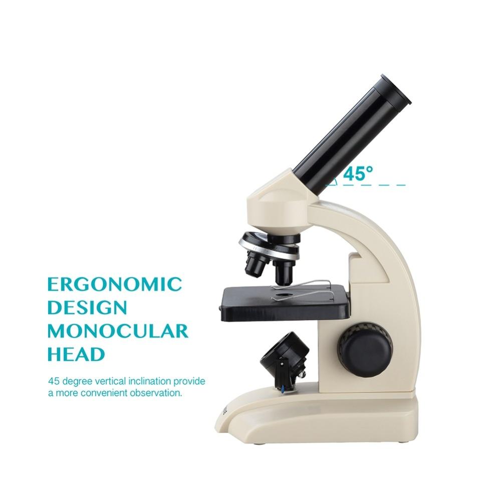 AOMEKIE Monokularowy mikroskop biologiczny 70X-400X Dolne szkiełka - Przyrządy pomiarowe - Zdjęcie 3