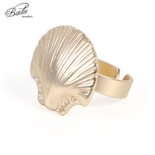 Badu Gold/Silver Sea Clam Shell Finger Ring Cuff Bohemian Punk Style Adjustable Rings for Women Party Jewelry Dropshipping punk style snake cuff ring for women