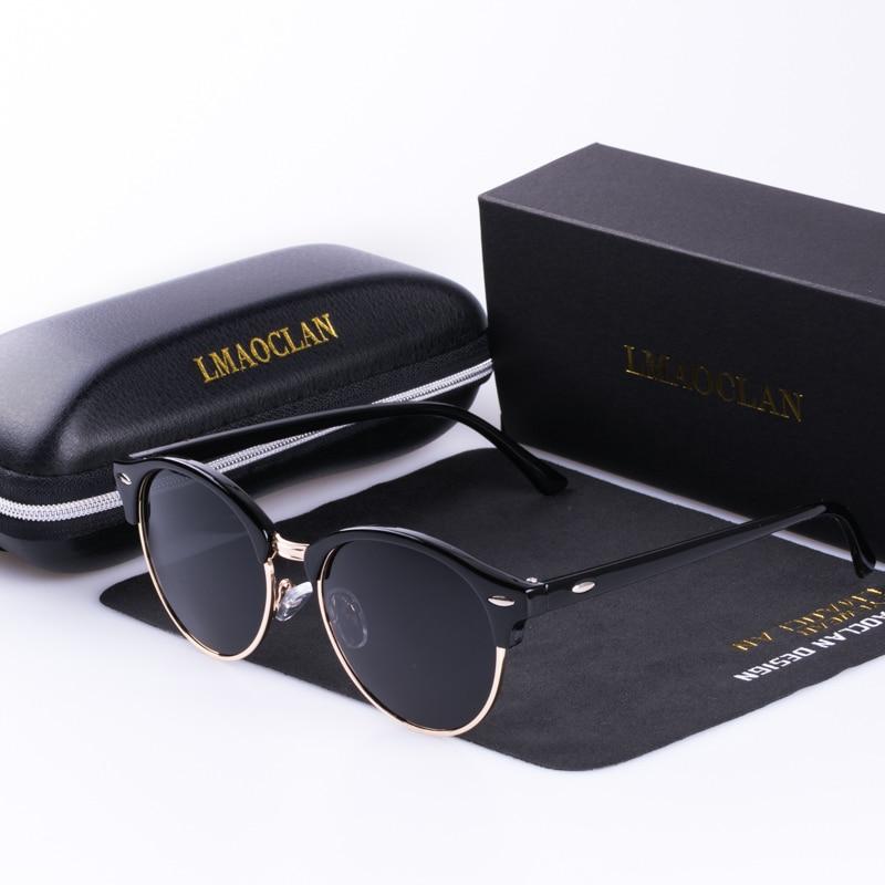 Women Vintage Narrow Polarized Sunglasses Mirrors Round Rimless Eyewear Female Driving Sun Glasses UV400